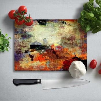 Tocător din sticlă securizată Insigne Fatallo, 35 x 25 cm, multicolor bonami.ro