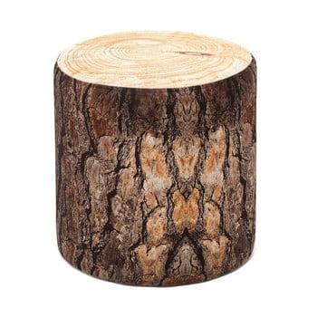 Taburet cu aspect de lemn Balcab Home Log bonami.ro