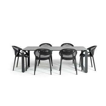 Set mobilier de gradina cu 6 scaune Le Bonom Joanna Strong