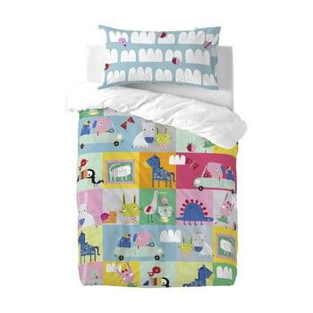 Lenjerie de pat din bumbac pentru copii Moshi Moshi Patchwork, 100 x 120 cm poza bonami.ro