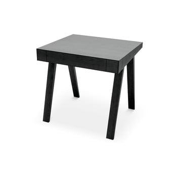 Birou cu picioare din lemn de frasin EMKO, 80 x 70 cm, negru bonami.ro
