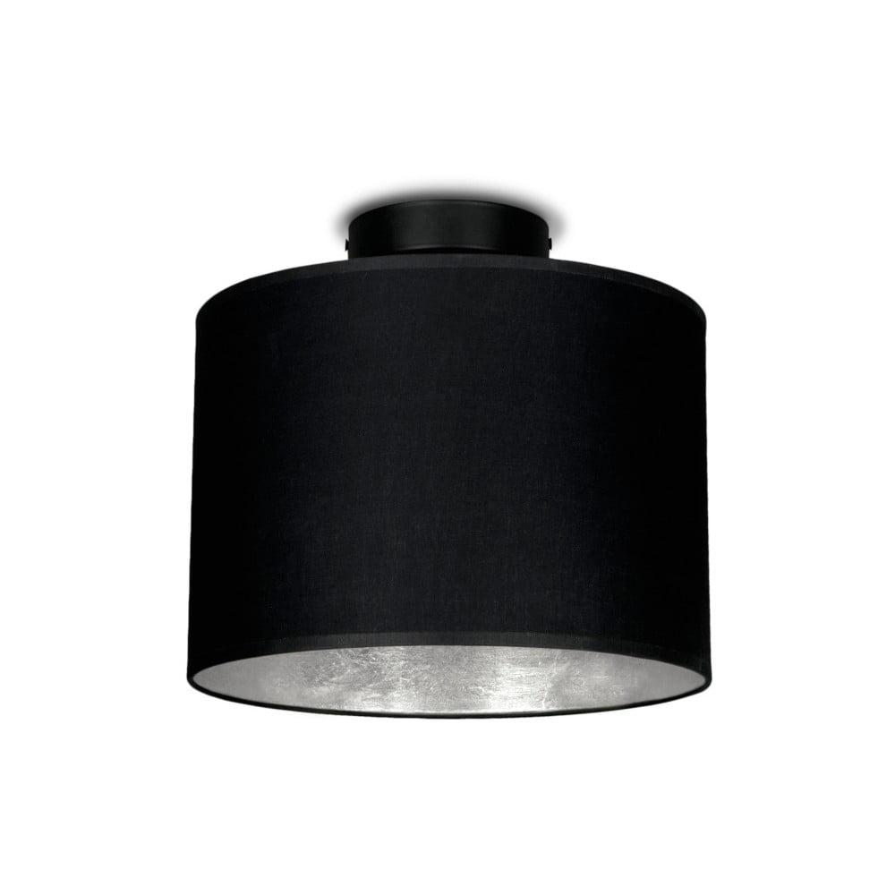 Plafonieră Sotto Luce MIKA, Ø 25 cm, negru/argintiu