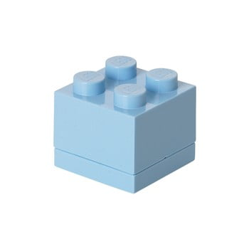 Cutie depozitare LEGO® Mini Box, albastru deschis bonami.ro