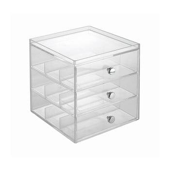Organizator transparent pentru ochelari cu 3 sertare, iDesign bonami.ro
