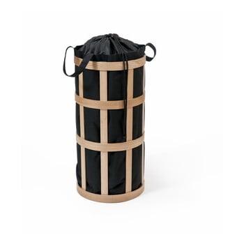 Coș pentru rufe Wireworks Cage, natur, cu sac negru imagine