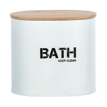 Cutie pentru baie cu capac Wenko Gara, alb bonami.ro