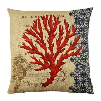 Pernă Gravel Red Tree II, 43x43cm,cuumplutură bonami.ro