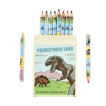 Set 10 creioane în husă cu model cu dinozaur Rex London bonami.ro