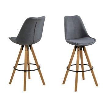 Set 2 scaune de bar Actona Dima, gri închis imagine