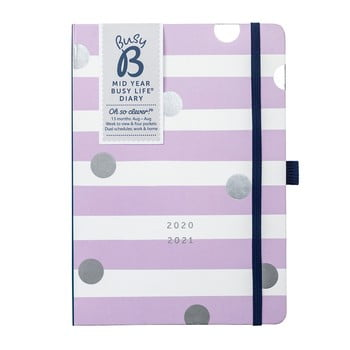 Jurnal din august 2020 până în august 2021 Busy B Lilac Lemonade, alb-violet bonami.ro