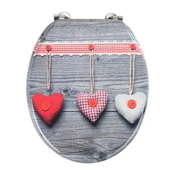 Capac WC Wenko Bavarian Hearts, 43 x 37 cm poza bonami.ro