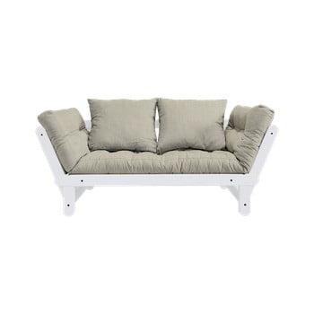 Canapea extensibilă Karup Design Beat White, bej - gri imagine