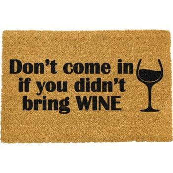 Covoraș intrare din fibre de cocos Artsy Doormats Without Wine, 40 x 60 cm poza bonami.ro