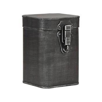 Recipient metalic pentru depozitare LABEL51, înălțime 17cm, negru bonami.ro
