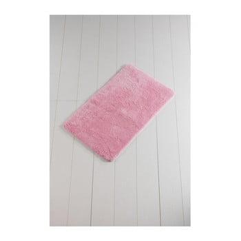 Covor baie Lenso Lungo, 100 x 60 cm, roz poza bonami.ro