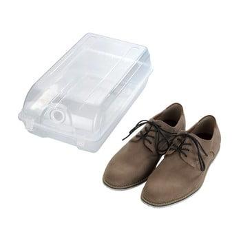 Cutie transparentă pentru depozitarea pantofilor Wenko Smart, lățime 21 cm poza bonami.ro
