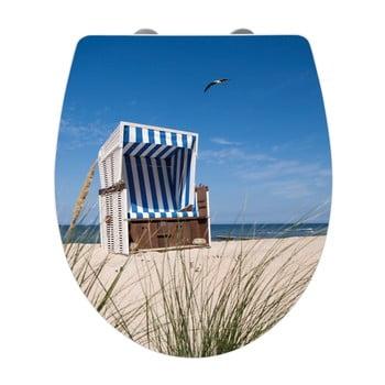 Capac WC cu închidere lentă Wenko Beach Chair, 45 x 38,8 cm poza bonami.ro