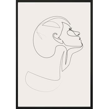Poster cu ramă pentru perete SKETCHLINE/FACE, 70 x 100 cm bonami.ro