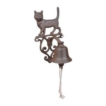 Clopoțel din fontă cu motiv pisică, pentru perete Esschert Design poza bonami.ro