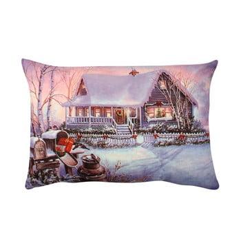 Pernă Violet Christmas, 33x48 cm poza bonami.ro