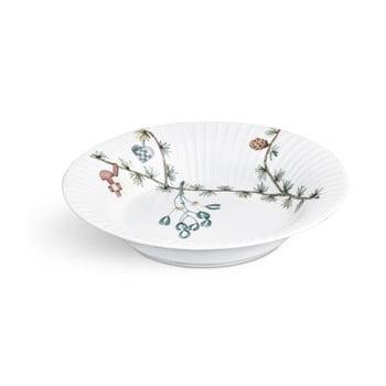 Farfurie din porțelan pentru supă, cu motiv Crăciun Kähler Design Hammershoi, ⌀ 21 cm, alb bonami.ro