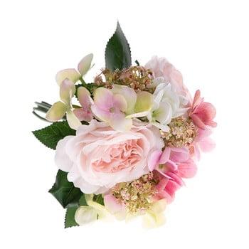 Buchet decorativ artificial de hortensie și trandafir Dakls Pulio poza bonami.ro