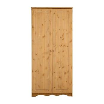 Șifonier din lemn de pin masiv cu 2 uși Støraa Amanda, natural poza bonami.ro