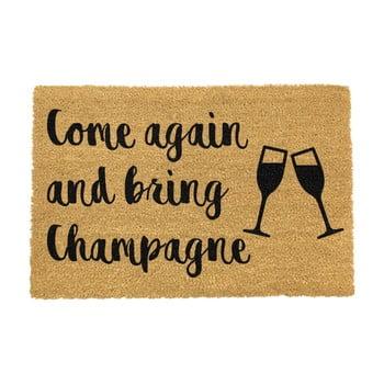 Covoraș intrare din fibre de cocos Artsy Doormats Bring Champagne, 40 x 60 cm bonami.ro
