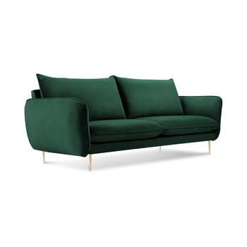 Canapea cu tapițerie din catifea Cosmopolitan Design Florence, verde sticlă, 160 cm bonami.ro
