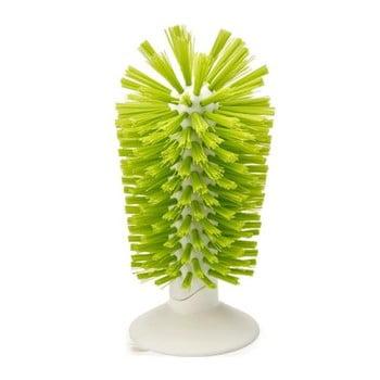 Perie pentru chiuvetă, ci ventuză, Joseph Joseph Brush-up, verde bonami.ro