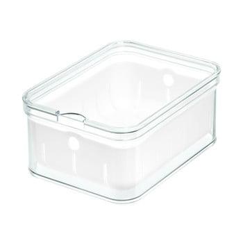 Cutie depozitare transparentă cu capac iDesign, 21x16cm bonami.ro