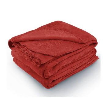 Pătură din microfibră AmeliaHome Tyler, 170 x 200 cm, roșu bonami.ro