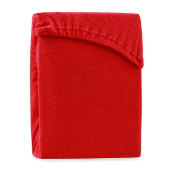 Cearșaf elastic pentru pat dublu AmeliaHome Ruby Siesta, 220-240 x 220 cm, roșu bonami.ro