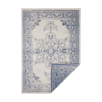 Covor adecvat pentru exterior Bougari Borbon, 200 x 290 cm, albastru-crem imagine
