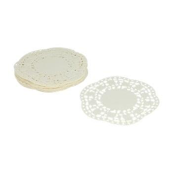 Set 40 suporturi din hârtie pentru prăjiturele Metaltex, ø 11 cm, alb bonami.ro