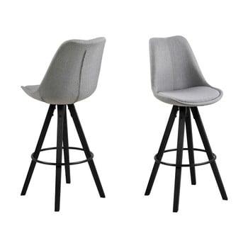 Set 2 scaune de bar Actona Damia, gri imagine