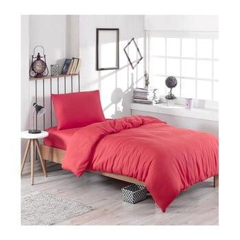 Lenjerie de pat din amestec de bumbac Paint, 140 x 200 cm, roșu bonami.ro