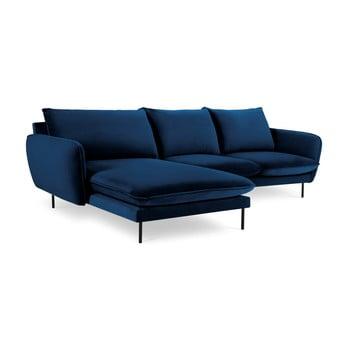 Colțar cu șezlong pe partea stângă Cosmopolitan Design Vienna, albastru poza bonami.ro