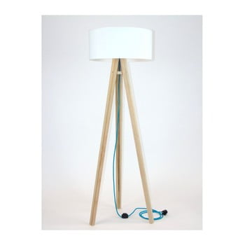 Lampadar cu abajur alb și cablu turcoaz Ragaba Wanda poza bonami.ro