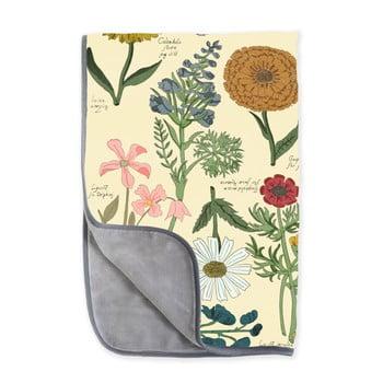 Pătură reversibilă din microfibră Surdic Botanica, 130 x 170 cm poza bonami.ro
