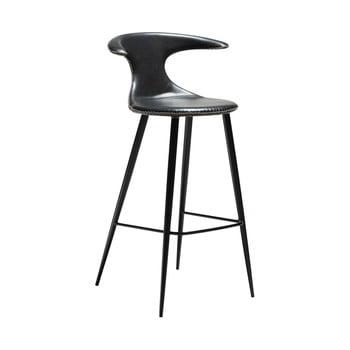 Scaun bar, piele, DAN-FORM Denmark Flair, negru imagine