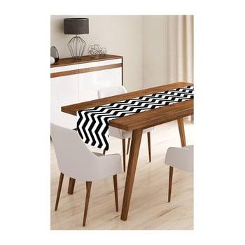 Napron din microfibră pentru masă Minimalist Cushion Covers Black Stripes, 45x145cm bonami.ro