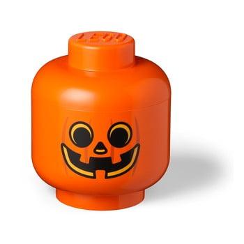 Cutie depozitare LEGO® Pumpkin Head L, portocaliu bonami.ro