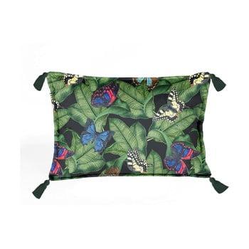 Pernă cu husă din catifea Velvet Atelier Borlas,50x35cm, verde bonami.ro