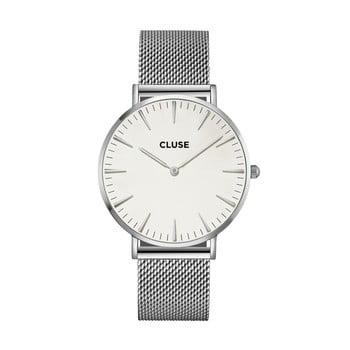 Ceas damă, curea din oțel inoxidabil Cluse La Bohéme, argintiu-alb bonami.ro