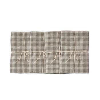 Set 4 șervețele textile Linen Couture Grey Vichy, 43 x 43 cm bonami.ro