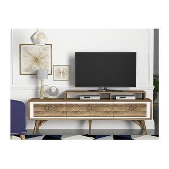 Comodă TV cu aspect de lemn de nuc Tera Home Rosso imagine