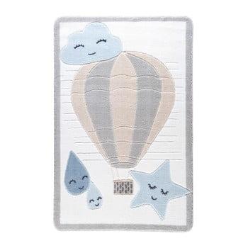 Covor pentru copii Confetti Cloudy, 133 x 190 cm, albastru deschis imagine