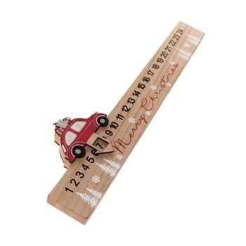 Calendar advent din lemn Auto Dakls, lungime 40 cm bonami.ro