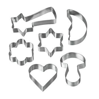 Set 6 forme pentru prăjituri din oțel inoxidabil Metaltex Cookie Cutters poza bonami.ro